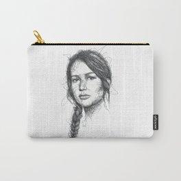 Katniss Everdeen Scribbles (Pen Art) Carry-All Pouch