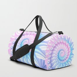 Striped Pastel Spiral in Pink, Blue and Purple Duffle Bag