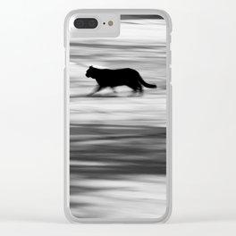 Ghost Cat Clear iPhone Case