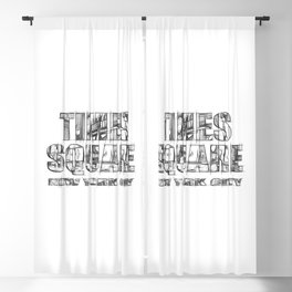 Times Square New York City (sketch) Blackout Curtain
