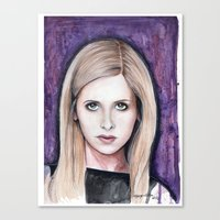buffy Canvas Prints featuring Buffy Summers by Morgan Allain, The Inkling Girl