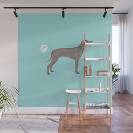 weimaraner funny farting dog breed pure breed pet gifts Wall Mural