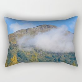 Autumn Mountain Fog - Alaska Rectangular Pillow