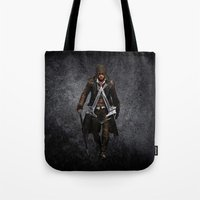 assassins creed Tote Bags featuring assassins - assassins by alexa