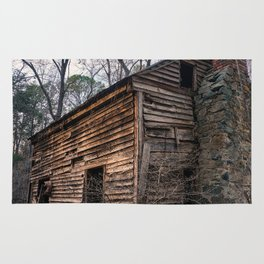 Abandoned Wood Cabin Rug