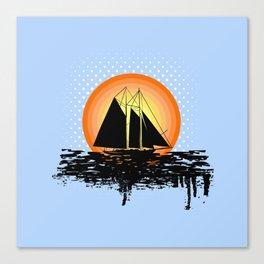Grunge sailing Canvas Print