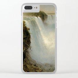 Niagara Falls - Frederic Edwin Church Clear iPhone Case
