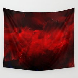Red And Black Luxury Abstract Gothic Glam Chic by Corbin Henry Wall Tapestry