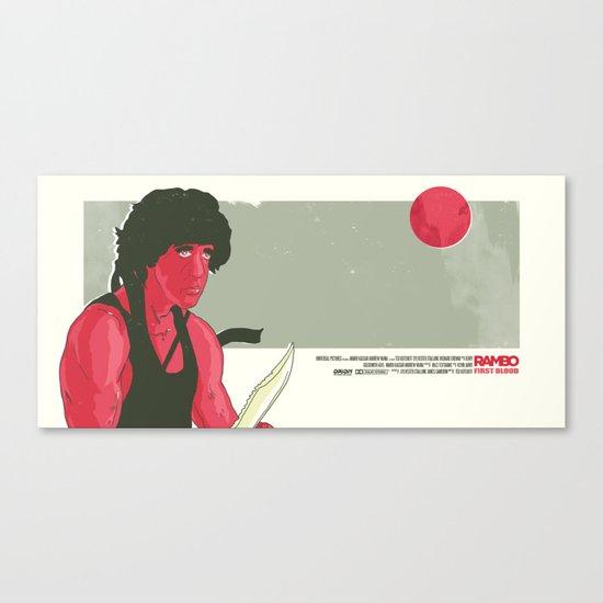 Rambo First Blood Movie  Scene  Canvas Print