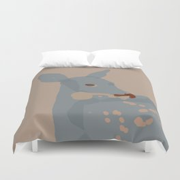 Grey Deer Duvet Cover