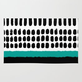 November Forest abstract pattern Rug