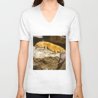 lizard V-neck T-shirts featuring Lizard by GardenGnomePhotography