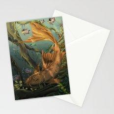 Golden Catfish  Stationery Cards