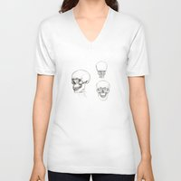 anatomy V-neck T-shirts featuring ANATOMY by Andreas Derebucha