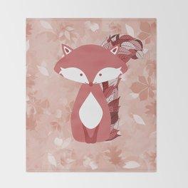 Cute Autumn FOX Design Throw Blanket
