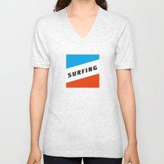 SURFING 3D - Square Unisex V-Neck