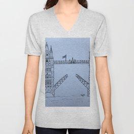 London Bridge Unisex V-Neck