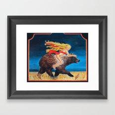 Bear Rider Framed Art Print