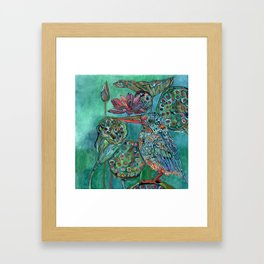 The King and the Lotus Framed Art Print