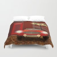 british Duvet Covers featuring British RED by Monika Juengling