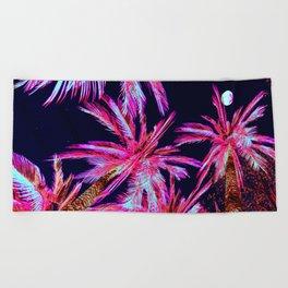 Moonlit Plants Beach Towel
