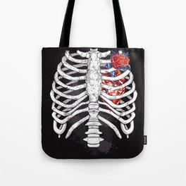 Skeleton Heart Tote Bag