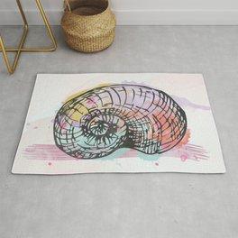 AP098 Watercolor snail shell Rug