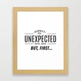 Big Brother Expect The Unexpected Framed Art Print