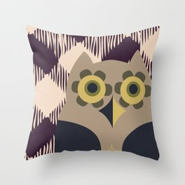 Owls and Plais Throw Pillow