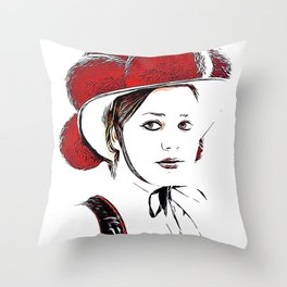 Schwarzwald-Mädel Throw Pillow