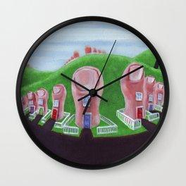 Toe Town Wall Clock