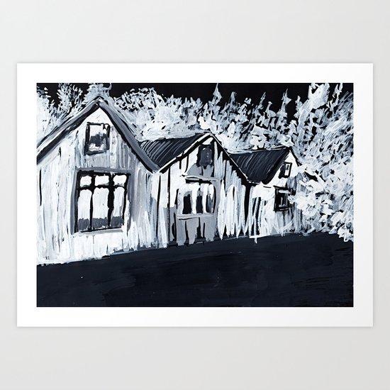 Ink Houses Art Print