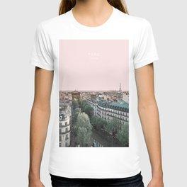 Paris Skyline, France Travel Artwork T-shirt