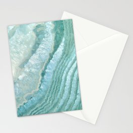 """""""Aquamarine Pastel and Teal Agate Crystal"""" Stationery Cards"""