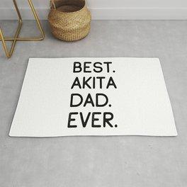 Best Akita Dad Ever Rug