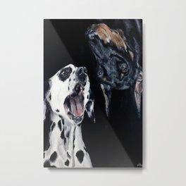 Contrasting Dogs Metal Print