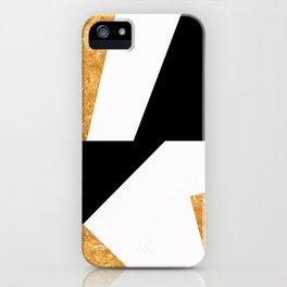 Corners in Black White Gold iPhone Case
