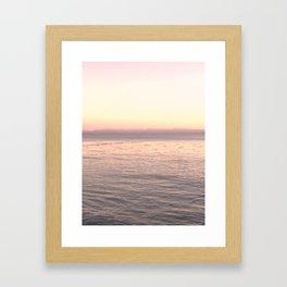 Pink Pacific Framed Art Print
