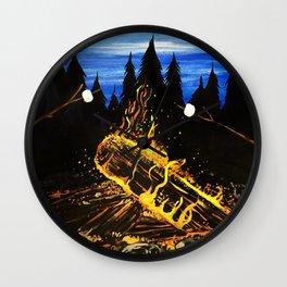 Camp Fire Wall Clock