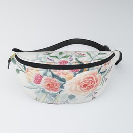 Flowers Bouquet Watercolor Fanny Pack