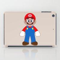 sticker iPad Cases featuring Sticker Mario by Rebekhaart