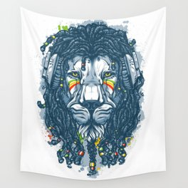 Lion with Dreadlocks Wall Tapestry