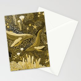 Golden Marine Menagerie Stationery Cards