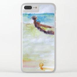 Miami Beach Watercolor #3 Clear iPhone Case