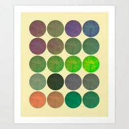 Disco Discs 2 Art Print