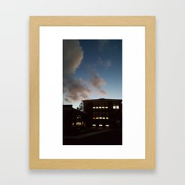 100-year-old Elementary School at Dusk Framed Art Print