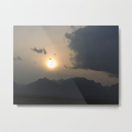 Sunset behind the Teton Mountains Metal Print