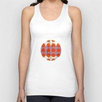 orange pattern Tank Tops featuring Orange by FergusT
