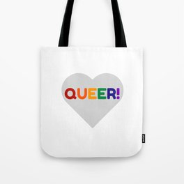 QUEER RAINBOW HEART Tote Bag