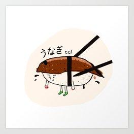 Eel sushi Art Print